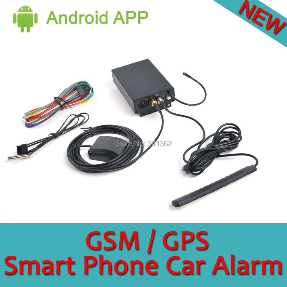 New 12V GPS GSM Car Alarm System Smart Phone Auto Security Remote Engine Start Mobile Phone Application()