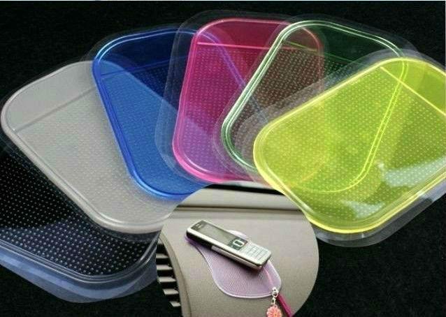 Magic anti slip sticky pad mat  Magic Non slip Washable Durable Use 6pcs/lot  for Car phone MP3 4 Wholesale  free shipping