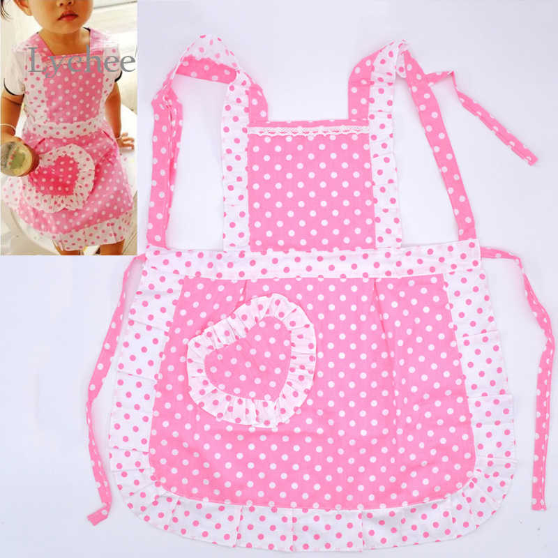 New Arrival Pink Dot Aprons Baking Kitchen Aprons Cute Household Accessories(China (Mainland))