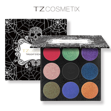 TZ Brand 9Colors Eyeshadow Palette Matte Diamond Glitter Foiled Eye Shadow in One Palette Blush Makeup Set for Beauty(China (Mainland))