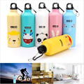 2016 Lovely Animal Outdoor Portable Sports Bicycle Water BottleTop Cycling Camping Aluminum Alloy Kids Bidon Cycling