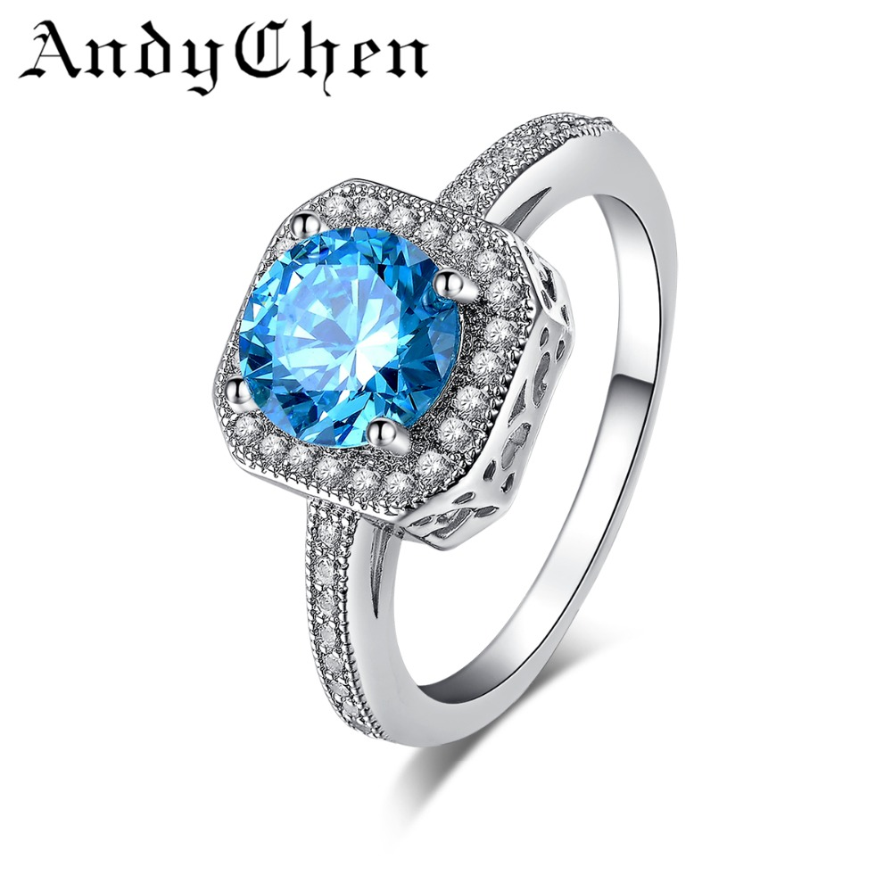 sapphire jewelry 925 sterling silver wedding rings for