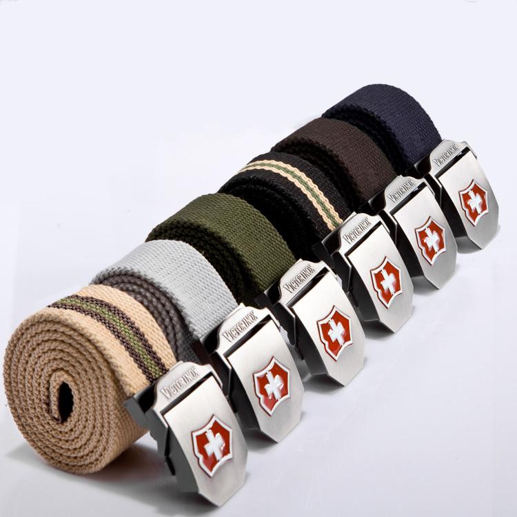 High Quality Military Designer Men Belt Women Canvas Cintos Metal Buckle Waist Strap Brand Unisex Army Tactical Canvas Belt CB06(China (Mainland))