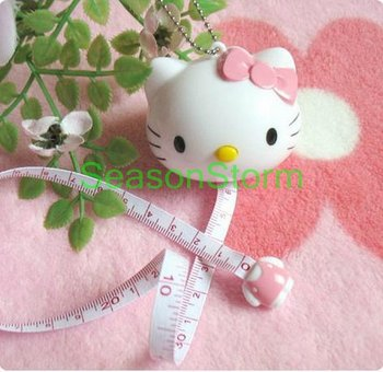 Retail Cute Hello Kitty Automatic Telescopic Tape Measure 100cm/40inches  (SI-06)
