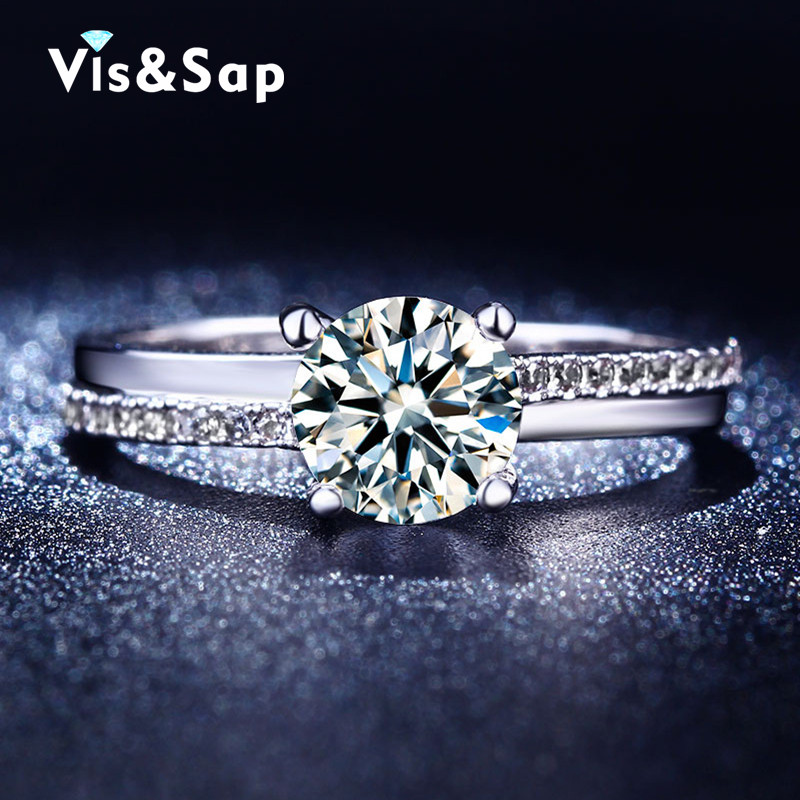 Wholesale ring White Gold plated Rings For Women AAA CZ diamond Wedding gifts for girls vintage Jewelry wholesale VSR213(China (Mainland))