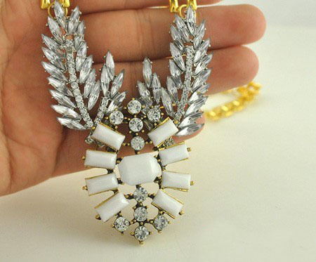 European Hot Fashion Punk Vintage Retro Angel Wing Choker Necklace Gold Chunky Chain Jewelry For Women Free shipping RuYiXLY059(China (Mainland))