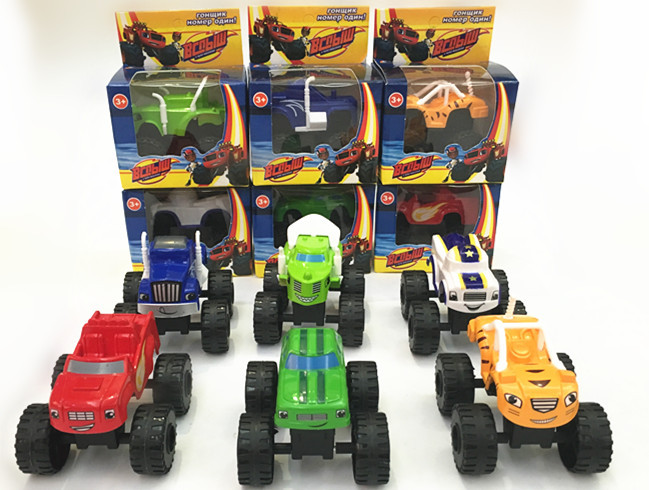 Free shipping 6pcs/lot Blaze Monster Machines Car kids blaze car toys for children(China (Mainland))