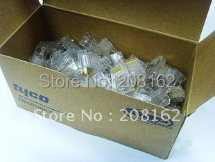 Wholesale High Quality 500 pcs lot RJ45 RJ-45 CAT5 Modular Plug Network Connector
