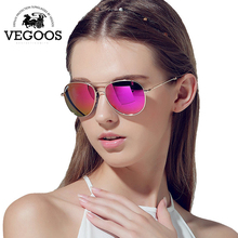VEGOOS Luxury Designer Brand Real Polarized Sunglasses Women Men Pilot Eyewear Sun Glasses Women Stainless Steel Fashion #3083