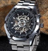 Envío gratis los hombres de moda de lujo a estrenar relojes mecánicos relojes mecánicos hombres de deportes recreativos impermeable reloj relogio masculino