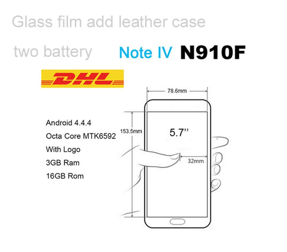 DHL free Top quality 5.7 inch N9100 Note 4 phone MTK6592 octa core 2G ram 16G rom 13mp camera 3G smart phone(China (Mainland))
