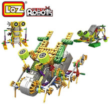 LOZ Robots Model Building Kits Electric Plastic Blocks Education Hobbies Assembly Toys For Children Boys > 6 Years Old(China (Mainland))
