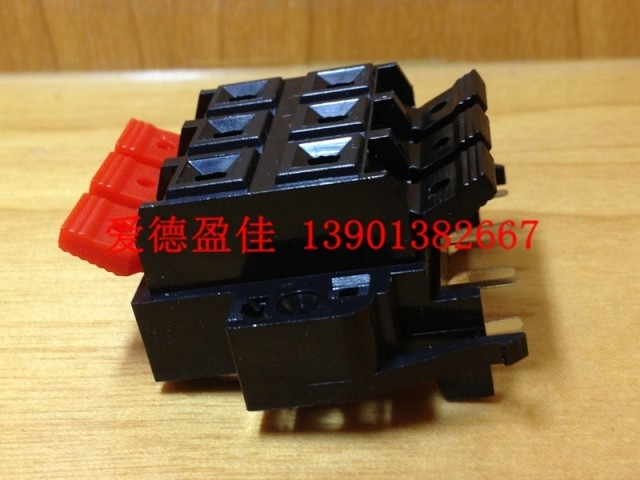 10 PCS/lot speaker terminal WP6-2 socket audio terminal clamp 2 rows of three test clip(China (Mainland))