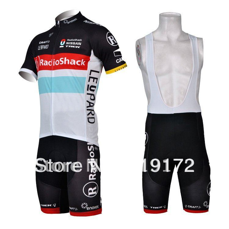 Radio Shack Pro Cycling Team Jersey + cuissard, Bike wear, Vélo vêtements, Cycle accessoire, À manches courtes, Livraison gratuite(China (Mainland))