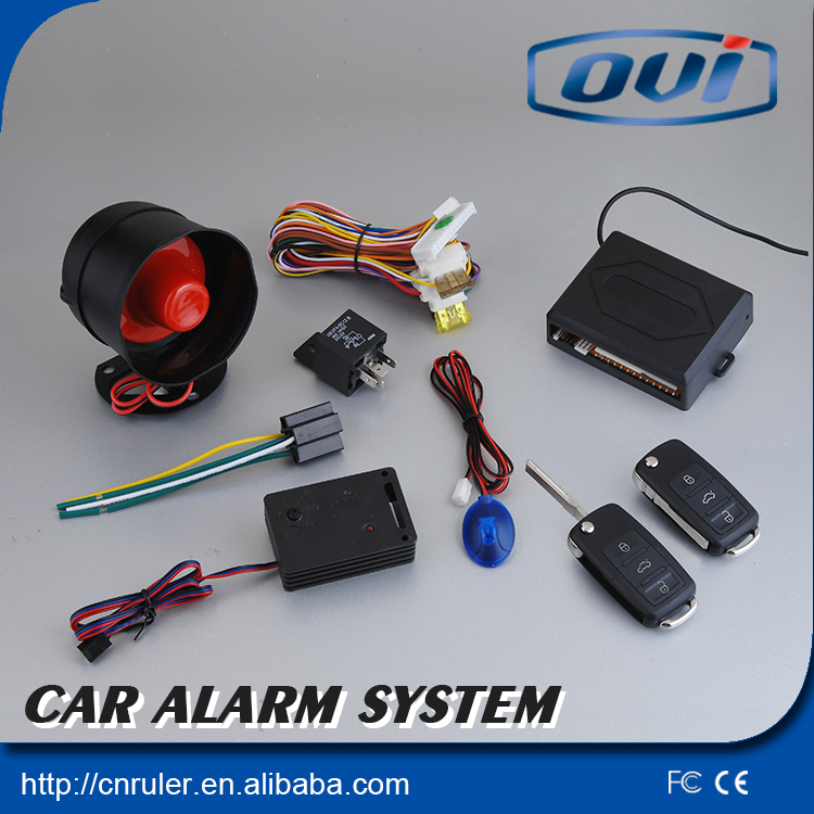 One way car alarm system/with flip key /For wholesale and retail/remote controllers/ nice main unit(China (Mainland))