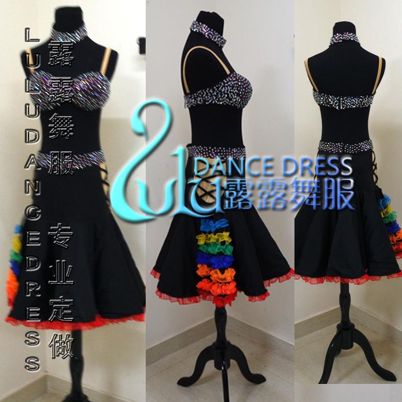 Black Latin dress A variety of colors Latin dress Sexy Latin dance dressОдежда и ак�е��уары<br><br><br>Aliexpress