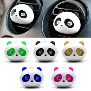 Car Styling Air Freshener 1 Set Car Air Conditioning Vent Perfume Panda Eyes Will Jump 5 Colors Parfume Hot Sale