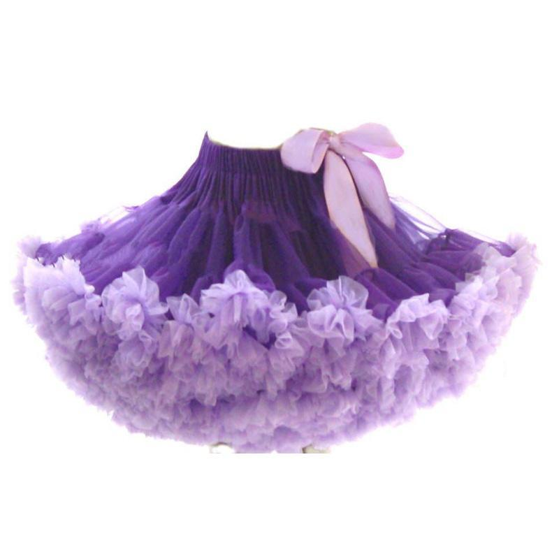 Women Adult Girls Fluffy Petticoat Party Rock Dancing Full Tulle Tutu Mini Skirt Rockabilly Short Dress Ball Gown Purple - Madegiftforyou Factory Store store