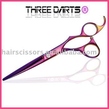 FREE SHIPPMENT HOT sales domestic 9cr13MoV stainless steel professioanl barber scissors  TD-Ti760