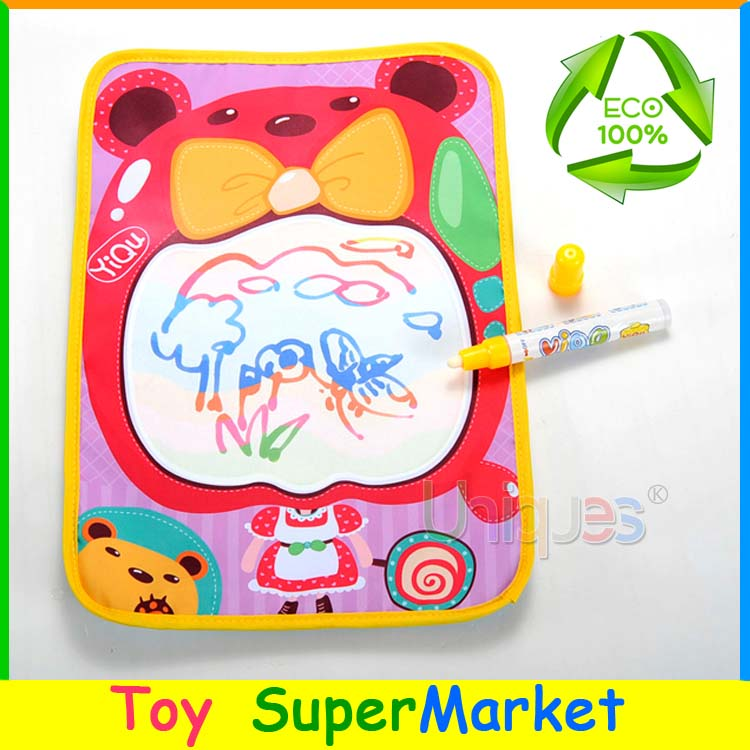 Magic Pen Water Drawing Mat Kids Drawing Board Toys Canvas Aqua Doodle Children EducationPlay Mat Painting Stencils(China (Mainland))
