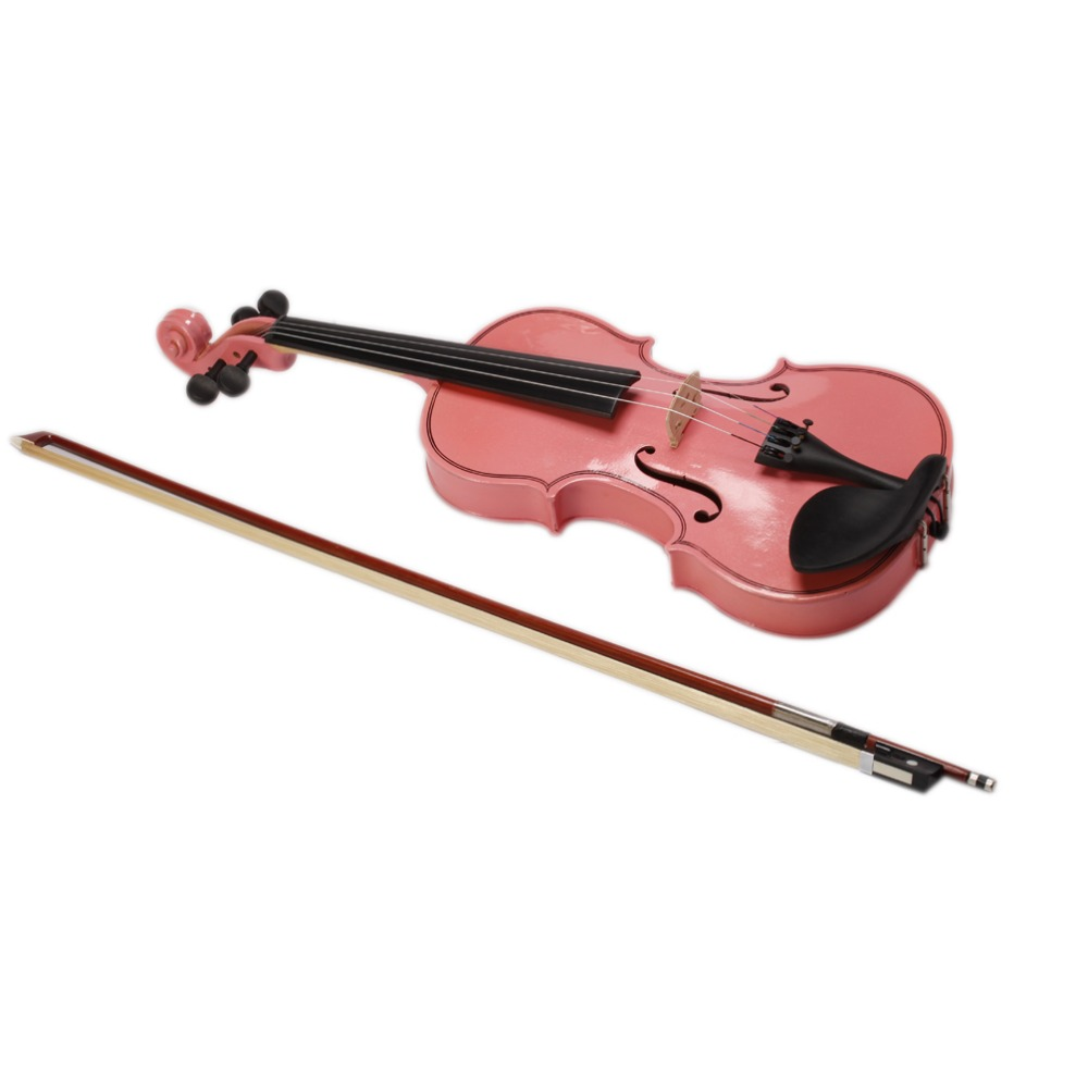 2016 High quality Pink Violin 4/4 1/4 3/4 1/2 1/8 Size Available Violin Full Set with Bow/Rosin/Case Colorful Violins Available<br><br>Aliexpress