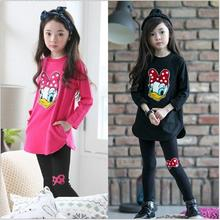 New Design Children's clothing child set autumn female child set T-shirt long-sleeve top trousers baby twinset spring and autumn