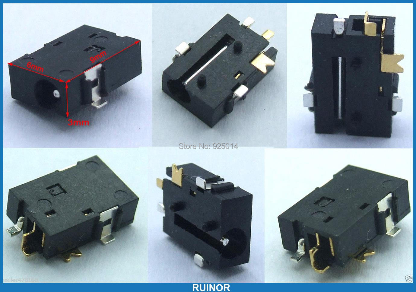 50PCS 0.7mm pin SMD SMT 2.5mm X 0.65mm DC socket 0.7mm pin for Tablets Power Charger Plug(China (Mainland))