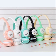 2016 Foldable Headphone with Mic for Iphone 5 5s 6 6plus lovely music stereo kids mobile phone headset cartoon headband IX16