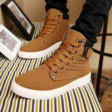 New 2016 Spring Hot Men Breathable Casual Shoes Zapatos Male Lace-Up Rubber Letters Canvas Ankle Boots Outdoor Shoes Sapatos
