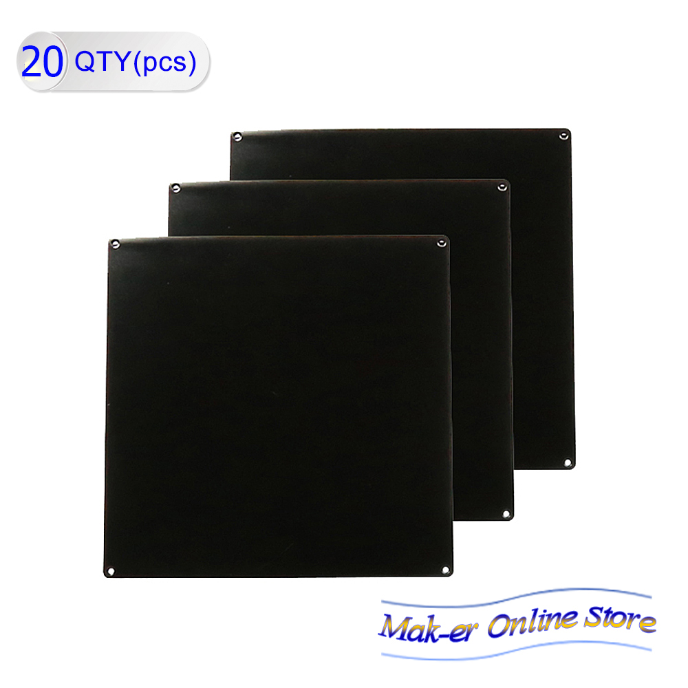 20 Pcs/Lot 3D printer accessories heatbed Heat bed MK2A standard aluminum plate 3mm hot bed reprap by DHL or Fedex(China (Mainland))