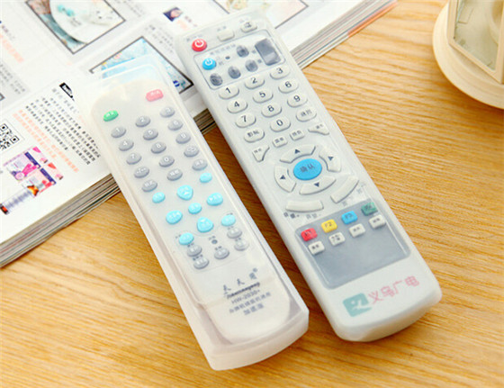 New arrival home air conditioning TV remote control sets of silicone protective cover and dust jacket waterproof(China (Mainland))