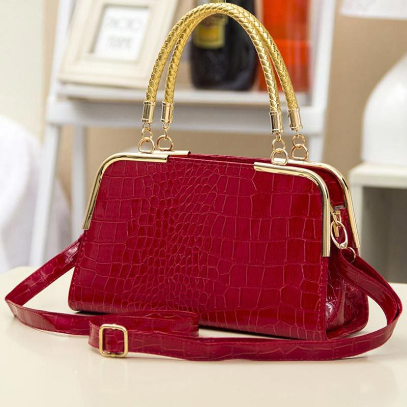 New Arrive Women Leather Handbag Fashion Women Bag Stone Pattern Shoulder Bags Bride Tote Europe Style Women Messenger Bags(China (Mainland))