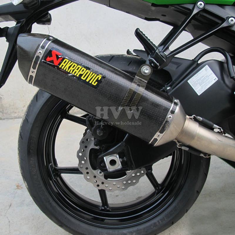 universal Modified font b Motorcycle b font font b Exhaust b font Pipe Muffler For KAWASAKI