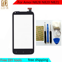 Tools+Original New Touch Screen For Amoi N828 N820 N821 Glass Capacitive sensor For Amoi N828 N820 N821 Touch Screen panel Black(China (Mainland))