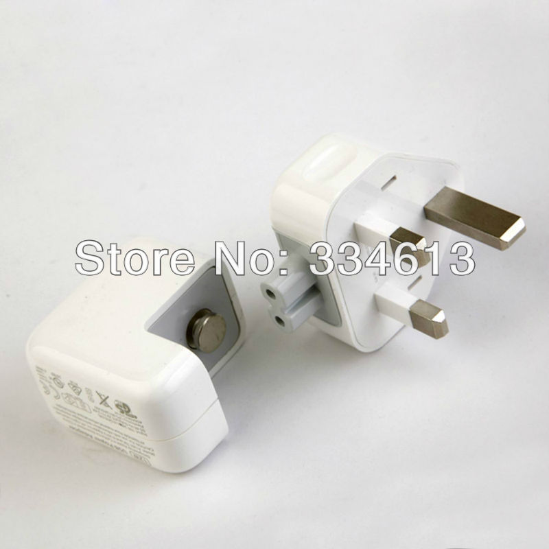 UK Wall Charger Adapter 12W 2.4A 100-240V For Apple ipad 1/2/3 ipad Mini Free shipping