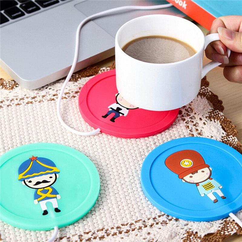 2016 New Design Milk Tea Coffee Mug Cup 5V USB Warmer Coffee Tea Mug Milk Water Warmer USB Silicone Heat Warmer Drinks Heater(China (Mainland))