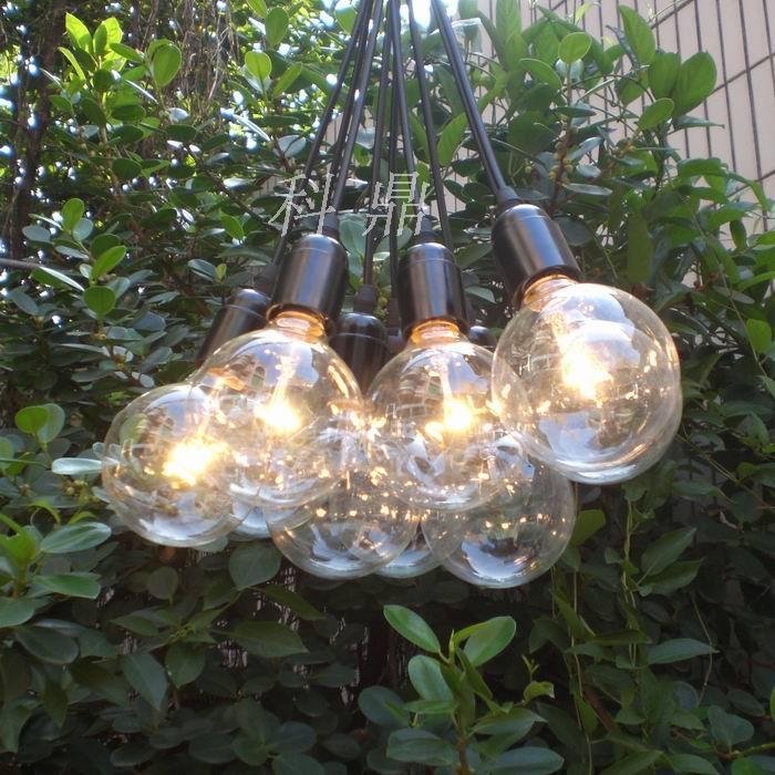 Vintage classic bulb e27 lamp pendant light line diy lighting lamps light bulb hanging wire(China (Mainland))