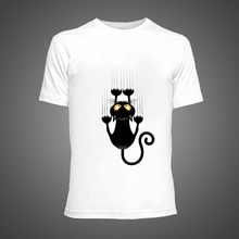 Buy 2016 Summer Cute Fub Black Cat Cartoon Printed t-shirt funny anime Short Sleeve t shirts men White hip pop tshirt homme for $7.80 in AliExpress store