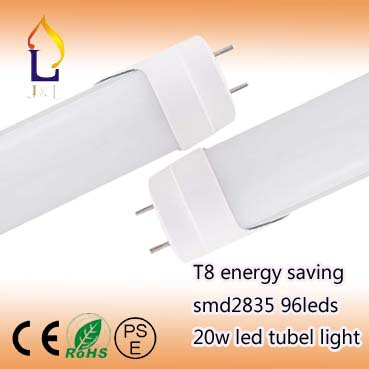 Wholesale 20W LED Tube T8 1200mm 96leds 4ft Light economic Bulb 1900-2000lm CE RoHS 50pcs/lot(China (Mainland))