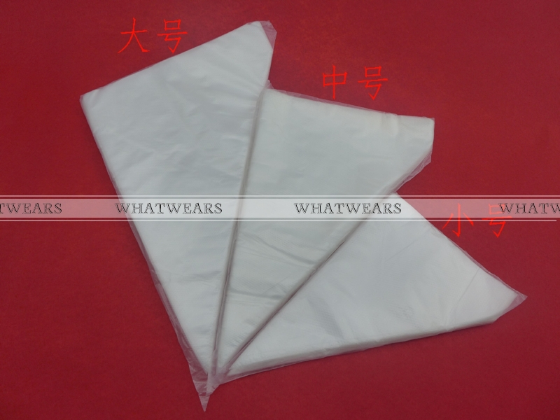 100 Pieces Large Size Thick Disposable Cream Cake Icing Piping Decorating Bags MB00053(China (Mainland))