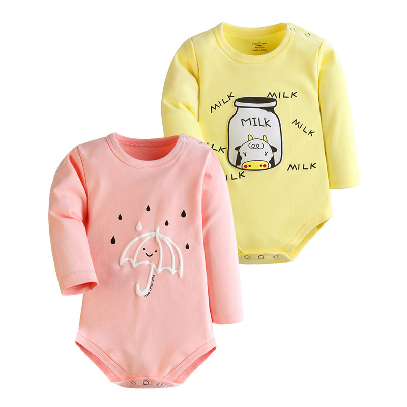 2016 Baby Rompers Children Autumn Newborn Baby Clothes Cotton Body Baby Long Sleeve Baby Girl Jumpsuit Products for Children(China (Mainland))