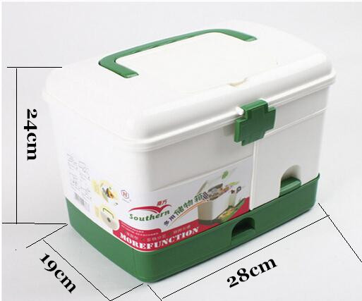 Plastic multi-purpose first aid kit, home medicine organizer case, first aid medicine storage box, family health product(China (Mainland))