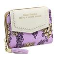 MCvilla Women Wallet female Purse Brand Flower Of Vintage Women Design Portfolio Wallet Zipper Women Handbag