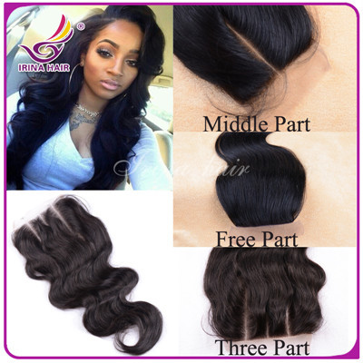 100% virgin hair peruvian lace closure body wave 6A cheap Virgin Human Hair Weave Extension Bleached Knots Free/MIiddle/3 Part<br><br>Aliexpress