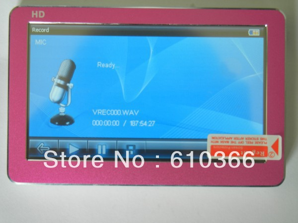 20pcs Newest HD mp4 player touch screen 4GB Support Mutil language DHL Fedex Free Shipping(China (Mainland))