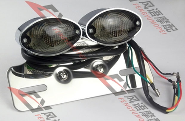 Smoke Turn Signal Brake Light License Plate Light Tail Light For Harley Honda Yamaha Suzuki Kawasaki Bike Cruiser Choppers(China (Mainland))