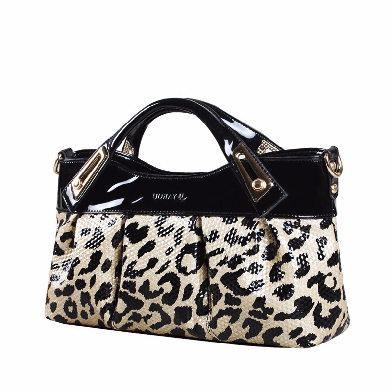 Sexy Leopard-print PU Party&Evening Bag Women Fashion Handbag Gorgeous Pleated Clutch Bag Lady Casual PU Shoulder Crossbody Bag