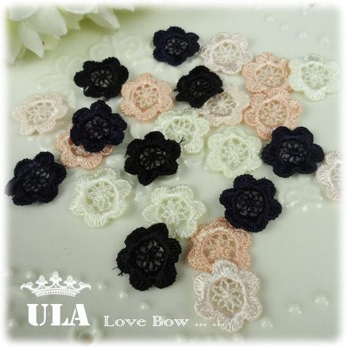 Wholesale lace flower applique DIY Decoration Lace Fabric Paste Decoraive Cloth Paste black Lace Applique 200pcs/lot