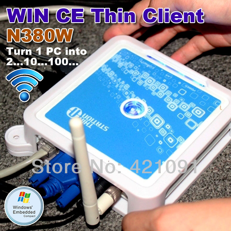 TS660W ( N380W ) Network Terminal Wireless Win CE 6.0 OS Thin Client Net Computer Sharing Support Winows 7 /vista(China (Mainland))