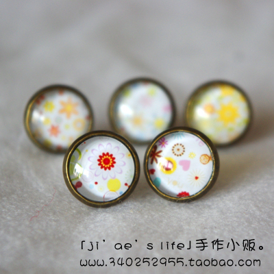 2-illust vintage fresh hand for stud earring earrings ring no pierced ccbt(China (Mainland))